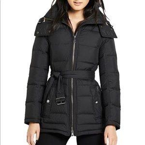 🖤Burberry Black Metcalf Fox Fur Trim Down Jacket